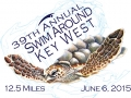 2015 Swim Around Key West t-shirt design