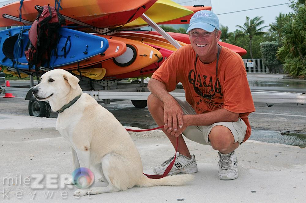 Bill Keogh and his dog