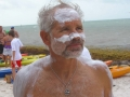 Bill Welzien getting ready to swim